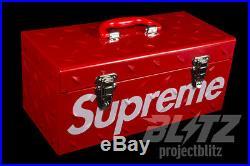 Supreme Diamond Plate Tool Box Red Fw18 2018 Accessory White Black Box Logo