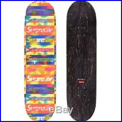 Supreme Distorted Box Logo Yellow Skateboard Deck 8.375 x 32.125 New Sealed