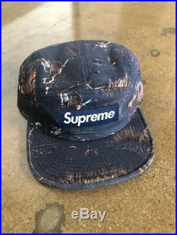 Supreme Dogs and Ducks Navy Camp Cap 5 Panel Box Logo DEADSTOCK