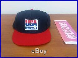 Supreme Dream Team USA Snapback Hat bogo box logo black red FW10 vintage rare