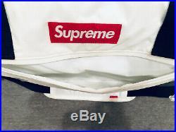 Supreme Duffle Cordura Bag White Gloss FW17 Duffel Box Logo 100% Authentic