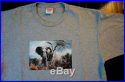 Supreme Elephant T Shirt Large L Grey Gray Box Logo Huf