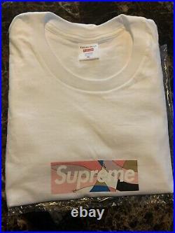 Supreme Emilio Pucci Box Logo Bogo Tee T-Shirt White Dusty Pink SS21 BOGO XL