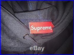 Supreme FW13 Navy Box Logo Pullover Hoodie (XL, 9/10)