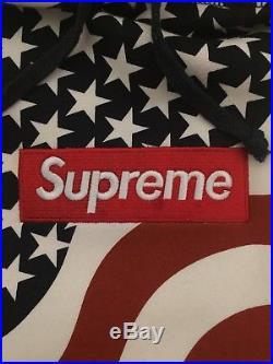 Supreme FW14 American Flag Box Logo Hoodie