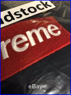 Supreme FW16 Navy Blue Box Logo BOGO Hoodie Hooded Sweatshirt Sz Large L New