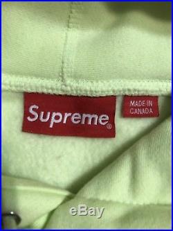 Supreme FW17 Box Logo Hoodie Pale Lime Size L