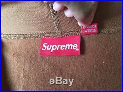 Supreme FW17 Rust Box Logo Hoodie (Brown/Blue) sz Large