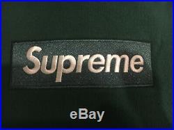 Supreme FW18 Dark Green Box Logo Bogo Crewneck Hoodie Size Large