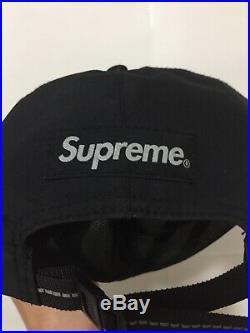 Supreme FW18 Gore Tex 6 Panel Hat Cap Black Box Logo