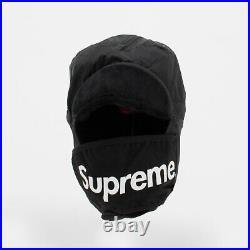 Supreme FW20 Tech Trooper crusher bucket hat Box logo camp cap beanie Black