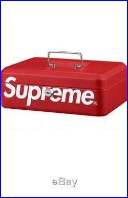 Supreme F/W17 Lock Box (Red) Box Logo Authentic New Accessories Stash Safe