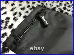 Supreme F/W 2017 Leopard Fleece Reversible Jacket Box Logo