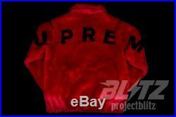 Supreme Faux Fur Bomber Jacket Red S M L XL Ss17 2017 Black Rare Heat Box Logo