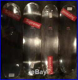 Supreme Flowers Box Logo Skateboard Deck Full Set Four SS17 New Authentic RARE