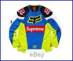 Supreme / Fox Racing Moto Jersey Top Multi Box Logo MEDIUM 100% Authentic