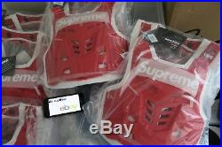 Supreme Fox Racing Proframe Roost Deflector Vest Red Size S/M Box Logo New SS18