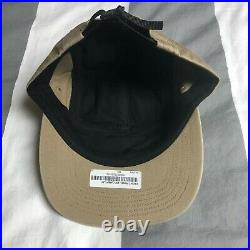 Supreme Front Panel Zip Camp Cap Hat Box Logo Tan SS17
