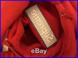 Supreme Fw17 Red Box Logo Hoodie Size Large