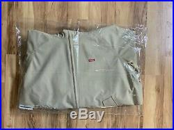 Supreme GORE-TEX SS19 Hooded Harrington Jacket Tan Large Box Logo Weather Shell
