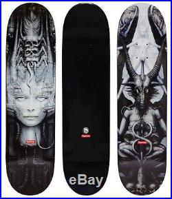 Supreme Giger Box Logo H. R. Spel Black Skate Deck Skateboard Set 2 Decks hirst
