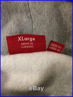 Supreme Gray On Gray Box Logo Hoodie XL