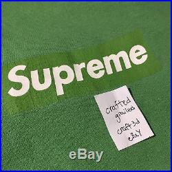 Supreme Green / Green Box Logo Tee Medium Old Rare
