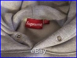 Supreme Grey Box Logo Hoodie Large