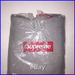 Supreme Grey Box Logo Hoodie ss16 Size L