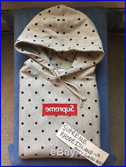 Supreme Grey CDG 1 Box Logo Hoodie Size XL F/W 2009