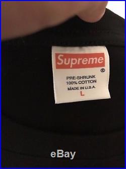 Supreme Gucci Box Logo T Shirt Size Large Black
