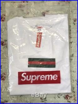 Supreme Gucci Box Logo T Shirt Size Medium White