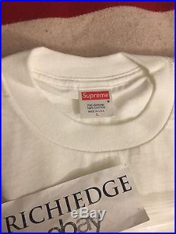 Supreme Gucci Box Logo Tee Shirt WHITE 2000 SIZE LARGE RARE 100% AUTHENTIC