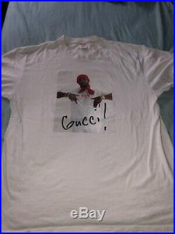 Supreme Gucci Mane Tee T Shirt White FW16 Size XL Used Akira CDG Box Logo