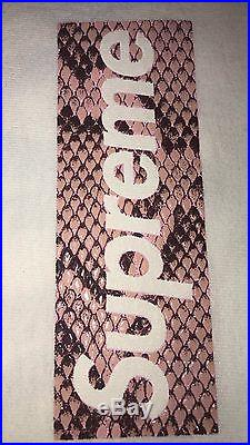 Supreme Harajuku Opening Party Snakeskin Box Logo Large Vnds 100% Authentic Rare