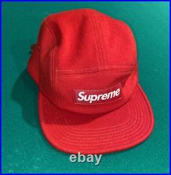 Supreme Harris Tweed Wool Camp Cap Bogo Box Logo Hype Hat Red