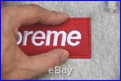 Supreme Heather Grey Box Logo Hoodie Size L