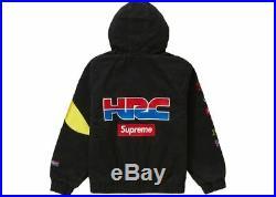 Supreme Honda Fox Racing Zip-up Puffy Race Jacket Black Size XL XLarge Box Logo