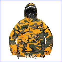 Supreme Hooded Logo Yellow Camo Pullover XLarge XL Jacket Box Logo Tee Hoody