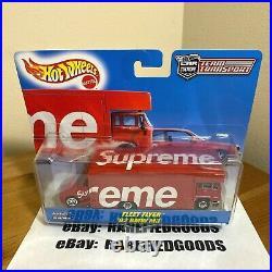 Supreme Hot Wheels 1992 Bmw M3 Fleet Flyer Red Box Logo S/s19