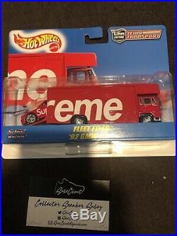 Supreme Hot Wheels Fleet Flyer + 1992 Bmw M3 Team Transport Car Set Box Logo Red