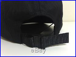 Supreme Jacquard Gator Camp Cap- Black Wool FW15 Box logo New pcl cdg