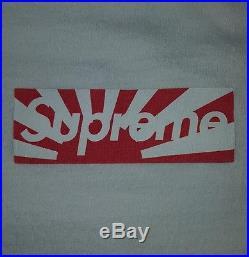 Supreme Japan Tsunami Earthquake Relief 2011 Box Logo White Kermit RARE Shirt L