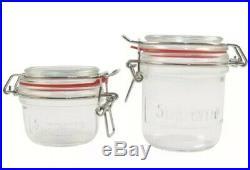 Supreme Jars (Set of 2) Clear Box Logo Clear Glass SS18 New Mason Jars Ships Now