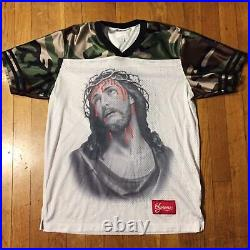 Supreme Jesus Football Jersey Top Camo box logo shirt