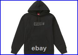 Supreme KAWS Chalk Box Logo Hooded Sweatshirt Black Large SS21 New IN HAND