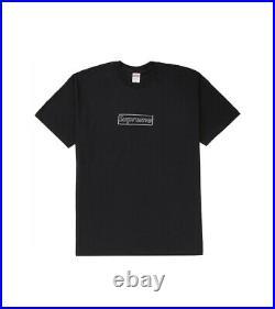Supreme KAWS Chalk Logo Box Logo Tee Black Size M / MEDIUM Order Confirmed