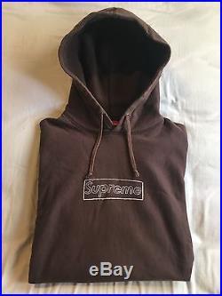 Supreme Kaws Box Logo Hooded Sweatshirt Hoodie Brown (Medium) SS11 CDG PCL