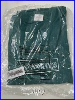 Supreme Kaws Chalk Logo Tee Pine Green Size Medium SS21 Brand New Sealed