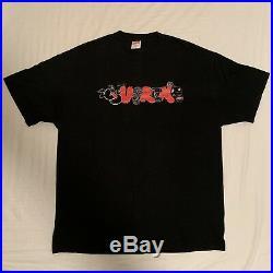 Supreme Kaws Original Fake Graffiti Box Logo Black Smoking T Shirt Authentic
